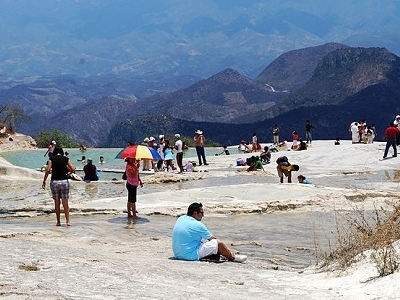 Hierve El Agua - Natural Lower Artificial Pool