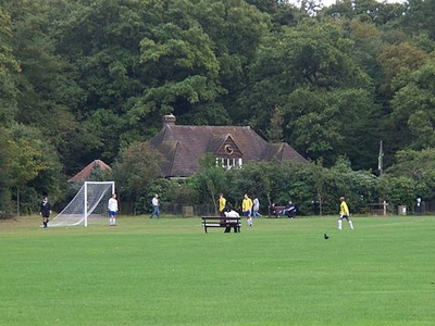 Pavilion And Football Pitch, Highgate Wood