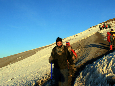 Hikers At Stella Point - Kilimanjaro