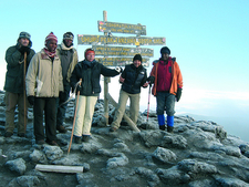 Hikers At Uhuru Peak - Kilimanjaro