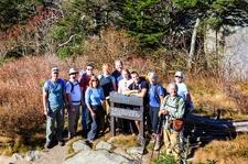 Hiking Group At Grandfather Gap NC
