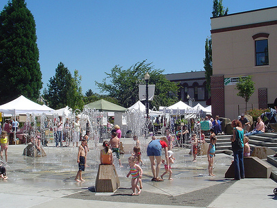 Hillsboro Civic Center Fountain OR
