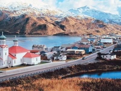 Hilltop View Of Unalaska