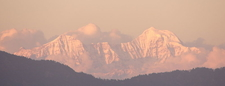 Himalayas At Dusk From Mussoorie