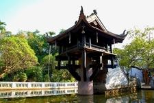 Historic One Pillar Pagoda In Hanoi