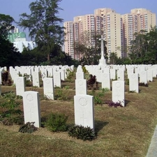 Headstones Of Canadian Soldiers Sai Wan War Cemetery