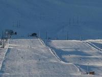 Laderas de la zona de esquí de montaña