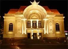 Ho Chi Minh Municipal Theatre At Night