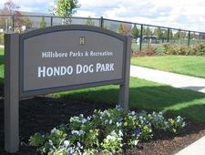 Hondo Dog Park Entrance Plaque - Hillsboro OR