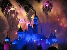 Fireworks Over Sleeping Beauty Castle
