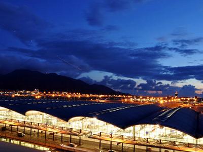 Hong Kong International Airport At Night