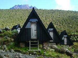 Horombo Huts - Mawenzi Peak In The Distance