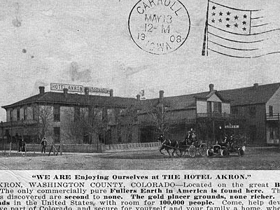 Hotel Akron Postcard Akron Colorado