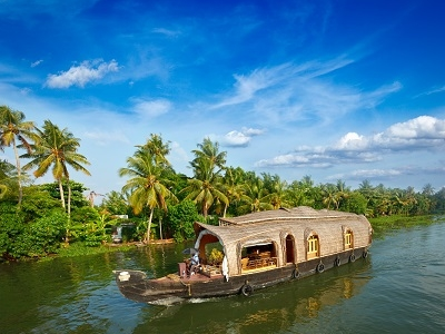 Houseboat On Kerala Backwaters