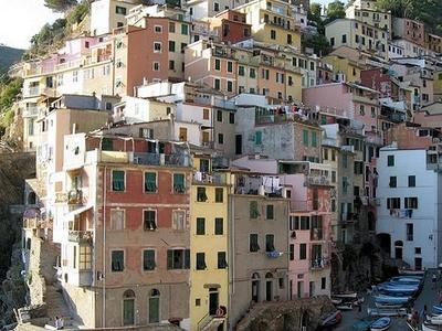 Houses On Rocks - Riomaggiore Village