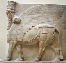 Human Headed Winged Bull