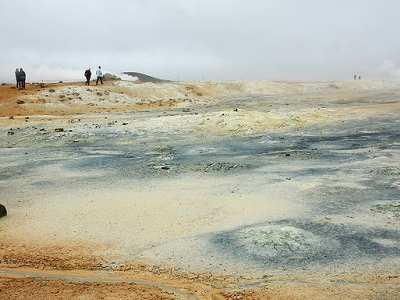 Hverir Geothermal Area In Iceland