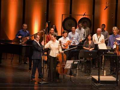 Performers On The Harris Theater's Stage
