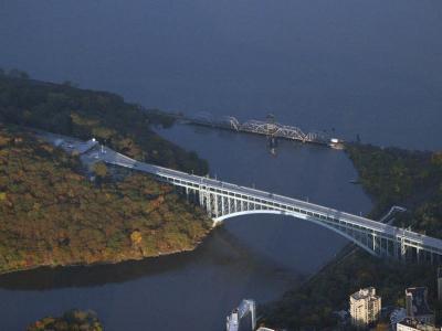 Aerial View Henry Hudson Bridge