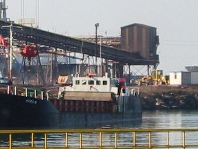 A Small Coal Ship Berths At Erdemir