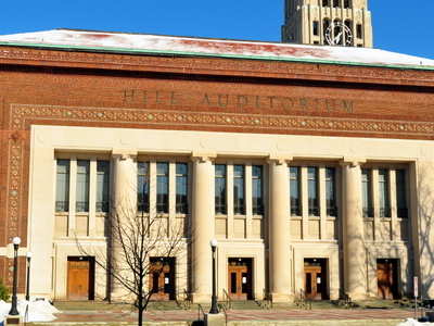 Hill Auditorium Winter
