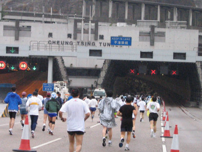 Hong Kong Marathon At Cheung Tsing Tunnel