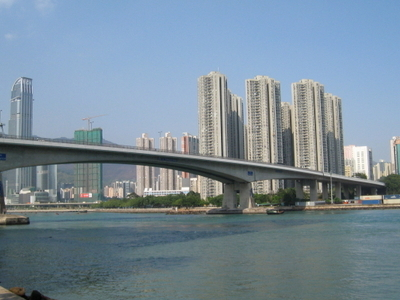 Tsing Yi Bridge Over Rambler Channel