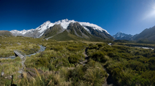 The Main Divide With Mt Sefton And The Footstool