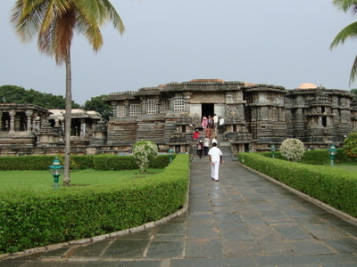 Hoysaleshwara Temple In  Monsoon
