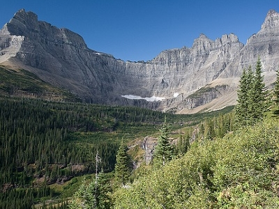 Iceberg Lake Cirque In Glacier NP