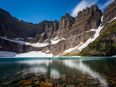 Iceberg Lake In Glacier NP