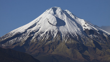 Ice-Capped Mount Taranaki - North Island NZ