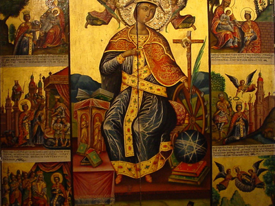 Icon Of Saint Catherine Of Alexandria
