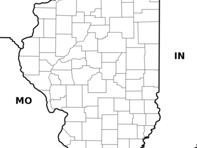 Illinois    Outline Map