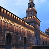 Illuminated Castello Sforzesco In Milan