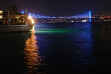 Illuminates The Bridge At Night