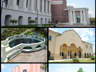 Images From Top Left To Right Clay County Courthouse The Springs
