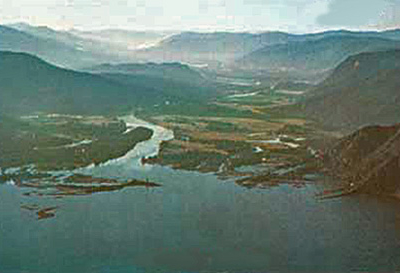 Image Showing The Vicinity Of Clark Fork Located To The Leftnort