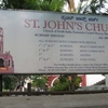 St. John's Church Sign Board In Bangalore