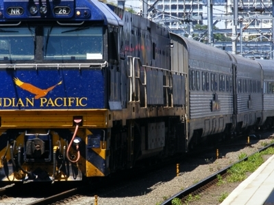 Indian  Pacific At  Sydney  Terminal