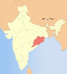 India Orissa Locator Map