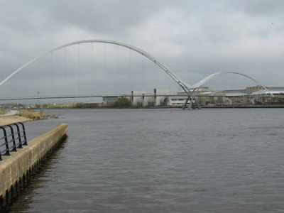 Infinity  Bridge From  River