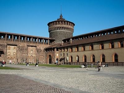 Inside Castello Sforzesco - Milan - Lombardy