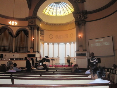Inside The Sanctuary Of The First Baptist Church