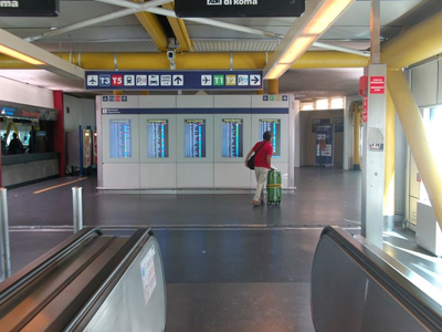 Inside Of The Rome Fiumicino Airport