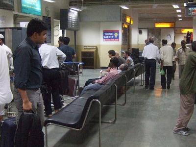 Inside  Varanasi  Airport