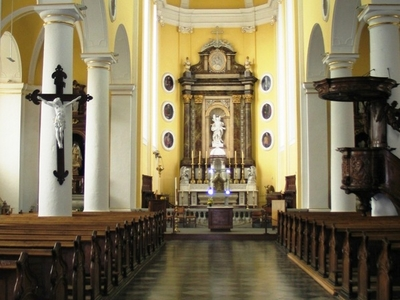 Interior Of The Church Of St Sebastian