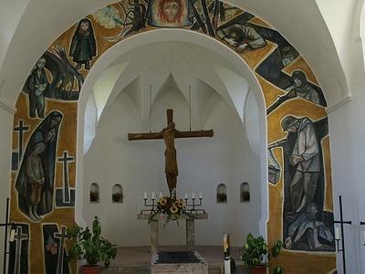 Interior View Of Rochuskapelle, Reutte, Austria
