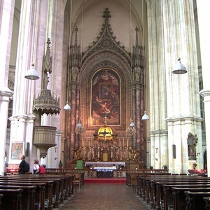 Interior View Of The Altar
