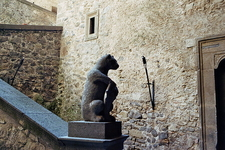 Interior With Bear Statue